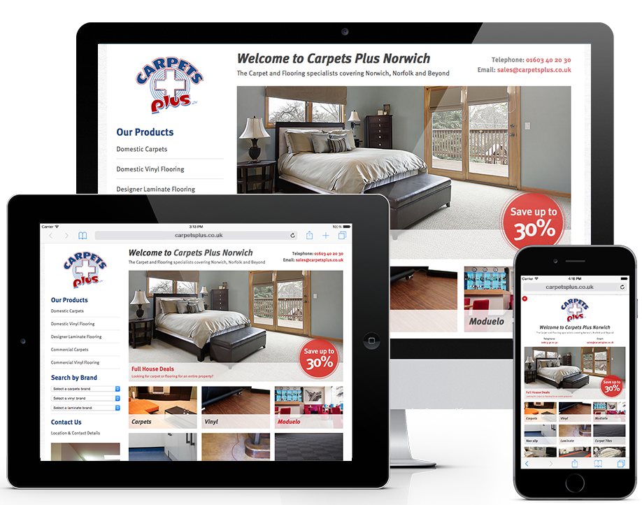 Responsive Web design and Development in Norwich from Wetink